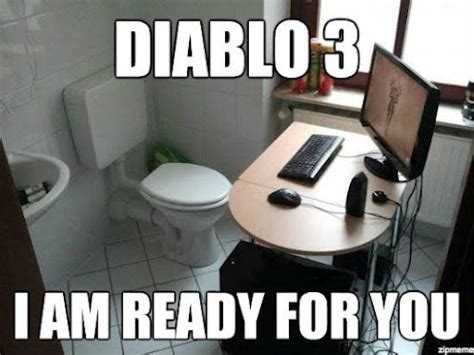 Diablo Meme - how gaming addicts think explained i have a pc