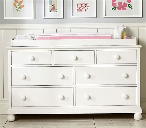 pottery barn dresser baby catalina extra wide dresser topper set pottery barn kids