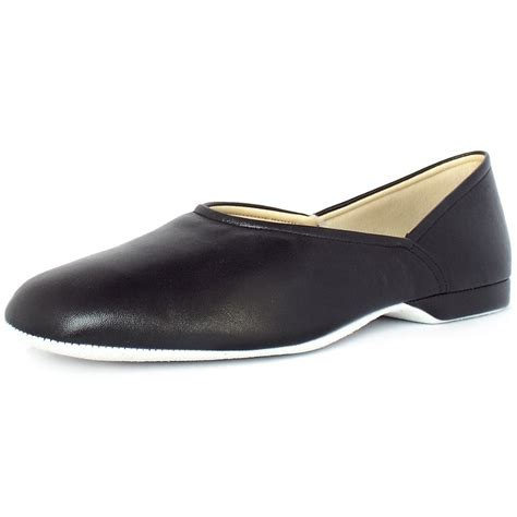 relax slippers grecian s classic black leather