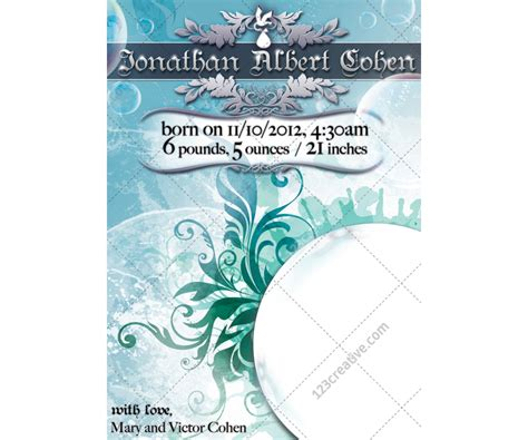 baby announcement template new baby annoucement template baby card for or boy