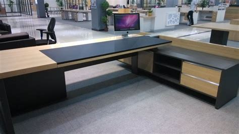 modern glass executive desk mfc modern executive desk l shaped office desk table top