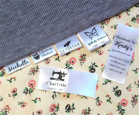 Cloth Tags For Handmade Clothing - 30 custom clothing name label sew in hanging tag fabric