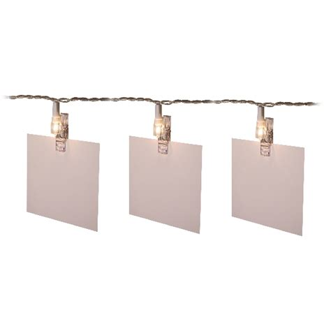 noma 4 75m length of 20 indoor card clip lights