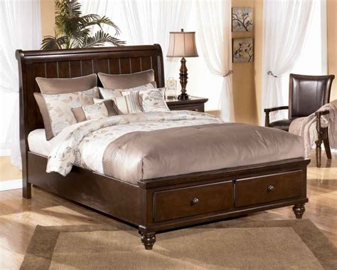 Brown Leather Bedroom Furniture Traditional Bedroom With Furniture Porter King Sleigh Bedroom Set Brown Leather