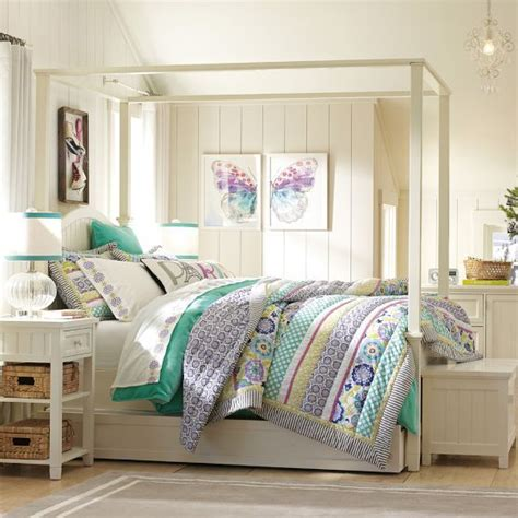 chatham canopy bed pb teen girl s fave s pinterest beadboard canopy bed trundle