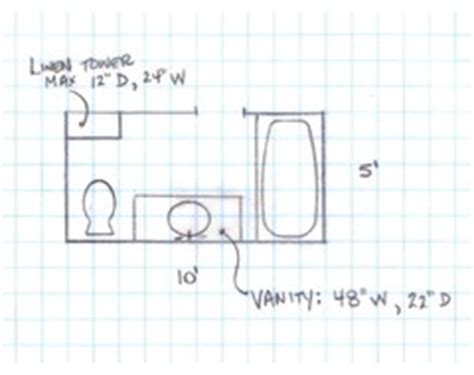 5 x 10 bathroom floor plans need help with 5 x 10 bathroom makeover