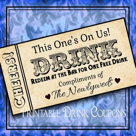 printable drink tickets diy weddings printable grunge drink tickets diy wedding
