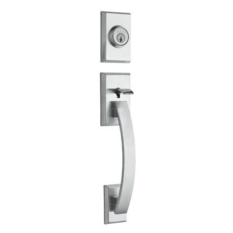 kwikset front door hardware kwikset signature series tavaris handleset low price