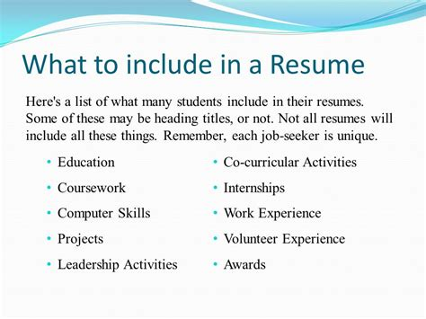 Things To Include On A Resume by Things To Include On Resume 9 Things To Remove From Your
