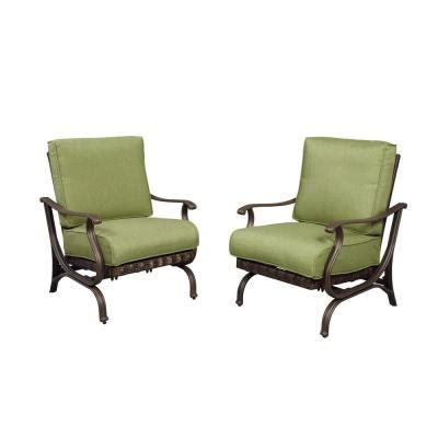 Patio Lounge Chairs With Cushions Hton Bay Pembrey Patio Lounge Chairs With Moss Cushions