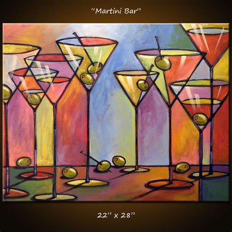martini bar decor giacomelli painting abstract modern dining room bar