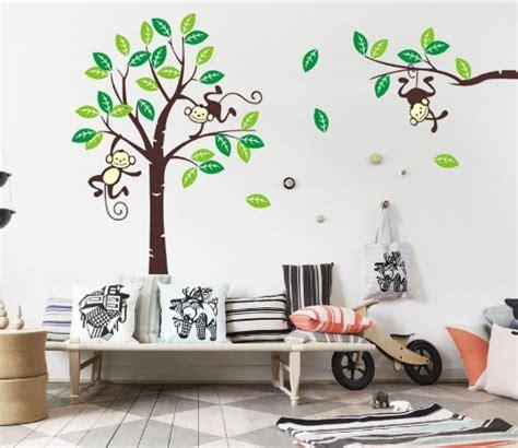 Wandtattoo Lebensbaum Kinderzimmer by Besonderes Wandtattoo Affe 196 Ffchen Im Baum