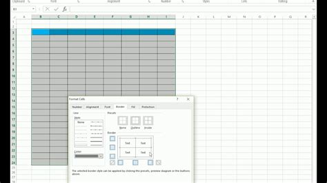 excel pattern types how to change the color of border in excel youtube