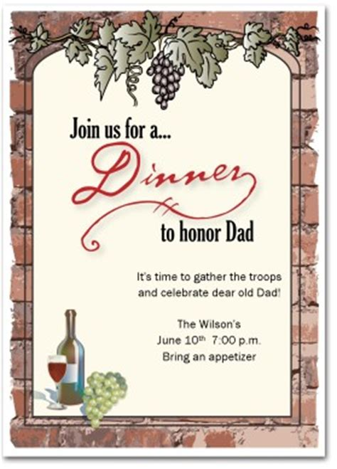 dinner invitation templates free printable dinner invitation template