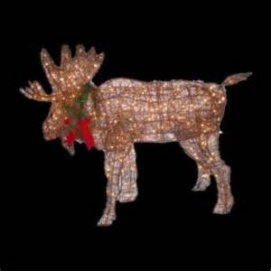 lighted moose yard decoration beautiful 48 034 lighted grapevine moose outdoor