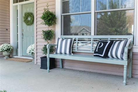 benches for front porch painted porch bench miss mustard seed