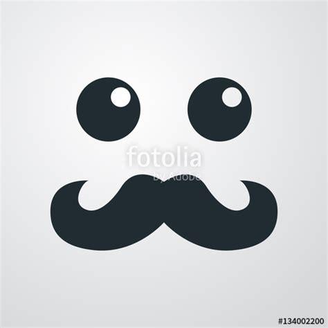 imagenes de iconos kawaii quot icono plano cara con bigote estilo kawaii en fondo