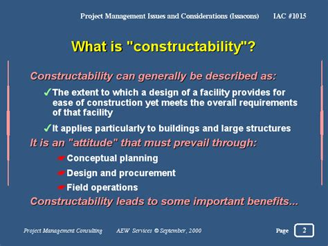 constructability report template what is quot constructability quot