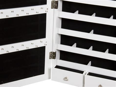 armarios joyeros armario joyero blanco con espejo vestidor de madera