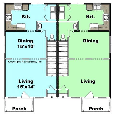 j2070 house plans by plansource inc duplex plan j1124 10d plansource inc