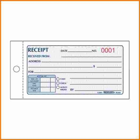generic receipt template free 7 generic receipt expense report