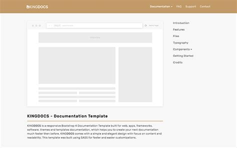 bootstrap templates for documentation kingdocs documentation template wrapbootstrap