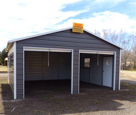 Carport And Garages by Steel 2 Car Garage Carport Workshop 24x31x9 Metal Building