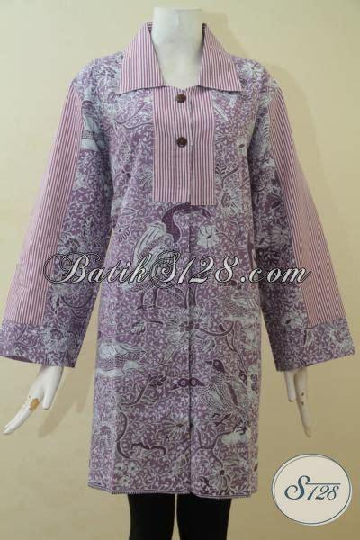 desain baju batik berhijab atasan batik wanita lengan panjang blus batik modern