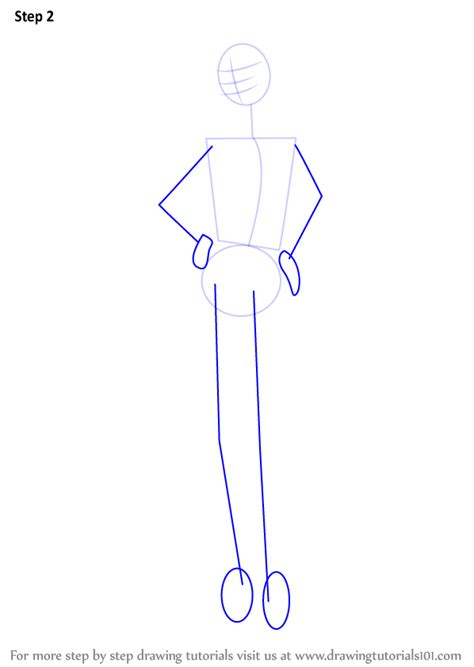 fashion doll outline learn how to draw a doll step by step
