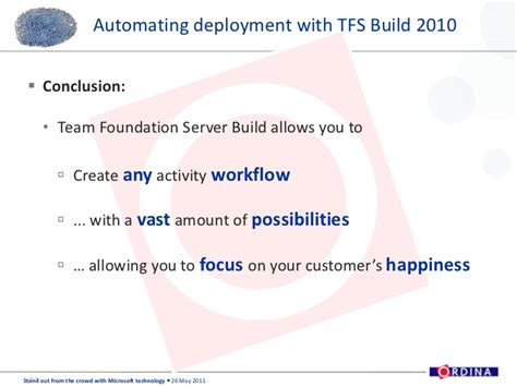 team foundation server workflow ordina softc presentation deployment with tfs build and
