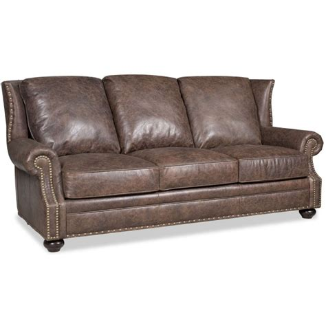 bradington elliott leather stationary sofa 693 95