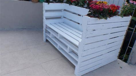 flower pot bench chic pallet bench with flower planters