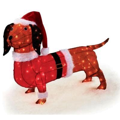 pre lit tinsel dog dachshund dachshunds the o jays and the front
