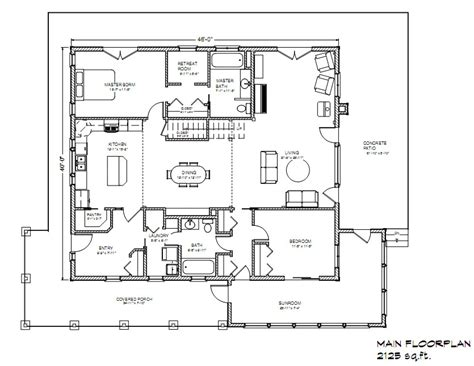 open floor plan farmhouse eco farmhouse plan