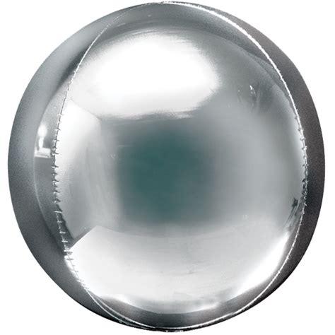 Silver Foil Balloon U 15 quot silver foil orbz balloon