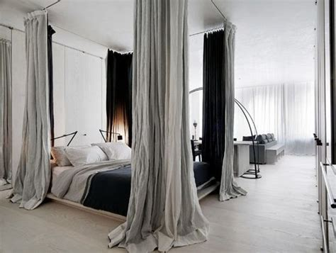 canopy bed blackout curtains 12 ways to create a bedroom in a studio apartment