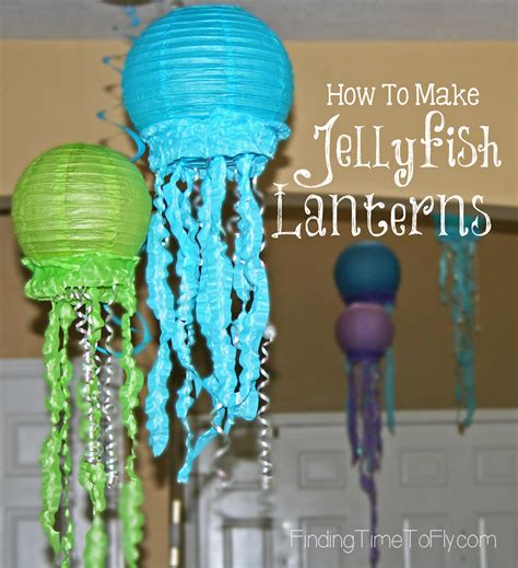 How To Make A Paper Jellyfish - how to make jellyfish lanterns finding time to fly