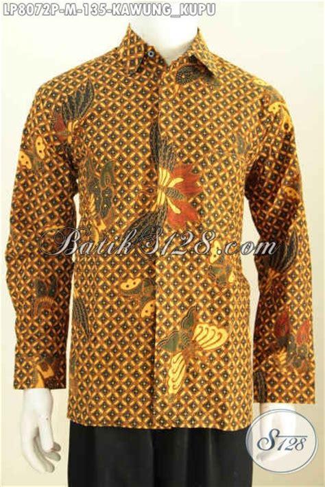 Kemeja Batik Kawung Grompol Printing Lengan Panjang batik hem elegan berkelas motif kawung kupu baju batik
