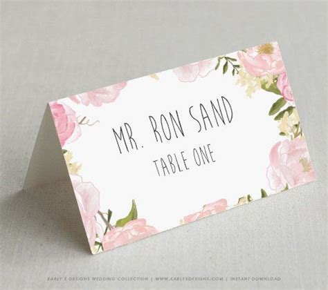 wedding place card template pdf best 25 diy wedding place cards ideas on diy
