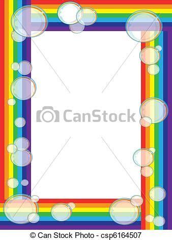 clipart arcobaleno arcobaleno cornice