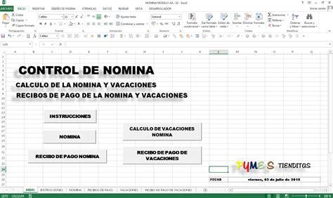 metodo de pago en recibos de nomina 2016 nomina con recibos de pago en excel bs 50 000 00 en