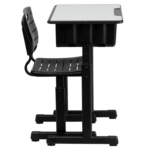 adjustable height student desk and with black pedestal frame adjustable height student desk and with black