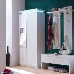 garderobe beleuchtet garderoben set weiss hochglanz lackiert 3 teili