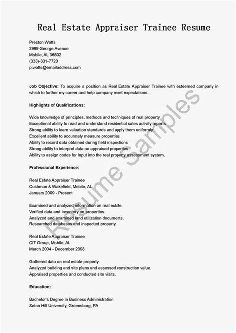 Commercial Appraiser Cover Letter real estate resume real estate resume tips rebuild your real estate resume real estate