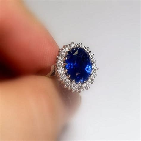 about 6 0 carat royal blue sapphire ring princess diana