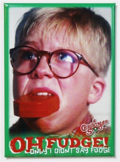christmas story  fudge fridge magnet ralph parker  christmas story christmas story
