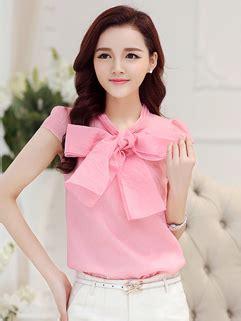 Nosh Korean Style V Neck Blouse Bow Tie Clara cheap sleeveless bow wholesale sleeveless bow