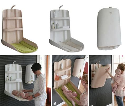 Baby Furniture From Bybo Space Saving Wall Mounted Baby Space Saving Changing Table