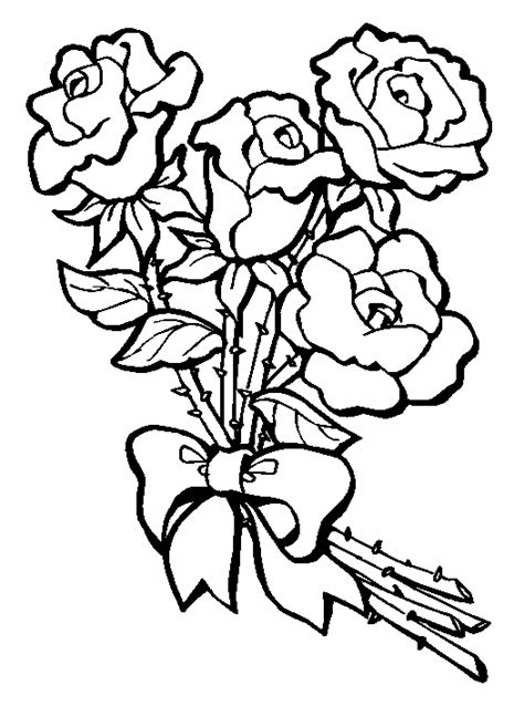 roses coloring pictures coloring pages
