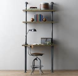 above desk shelving unit industrial pipe desk and shelving stylishly industrious furniture